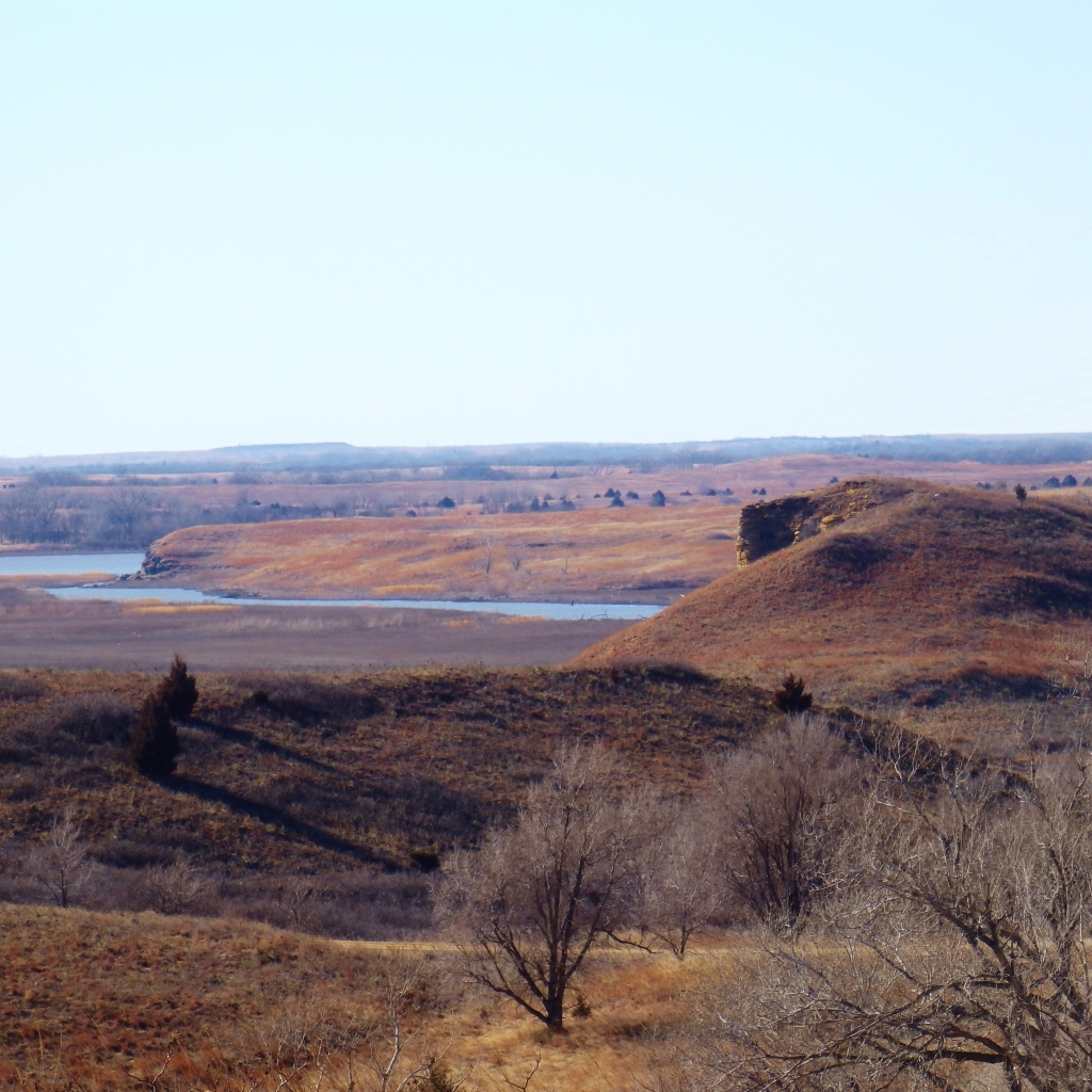 kansas bluffs and water