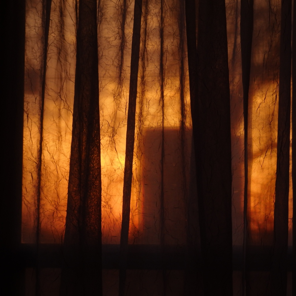 curtained sunset