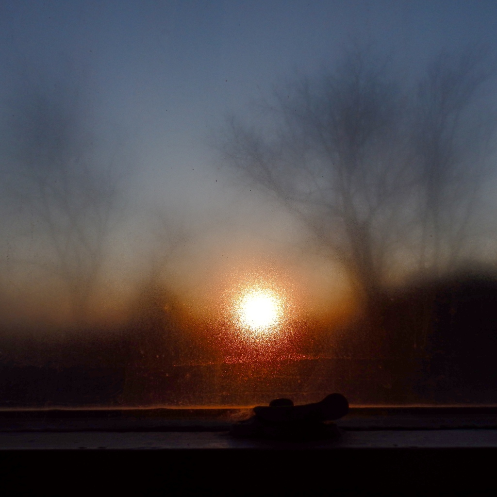 moist window sunrise